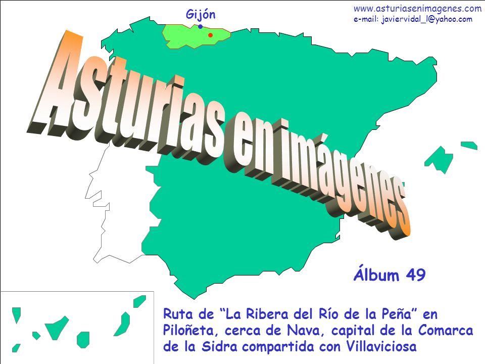1 Asturias - Álbum 49 Gijón Ruta de La Ribera del Río de la Peña en Piloñeta, cerca de Nava, capital de la Comarca de la Sidra compartida con Villavic