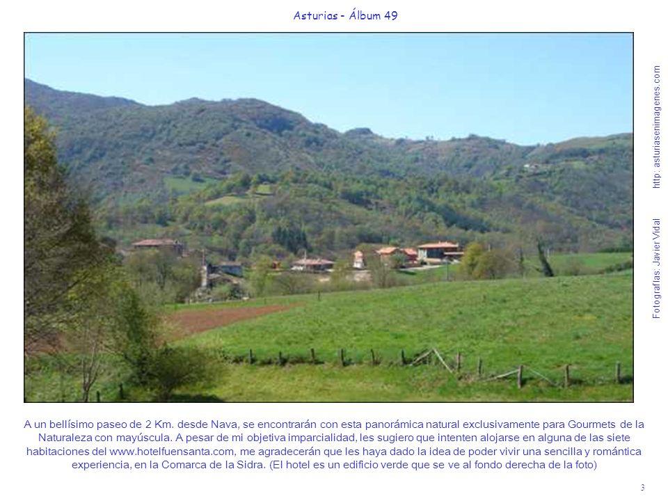 3 Asturias - Álbum 49 Fotografías: Javier Vidal http: asturiasenimagenes.com A un bellísimo paseo de 2 Km. desde Nava, se encontrarán con esta panorám