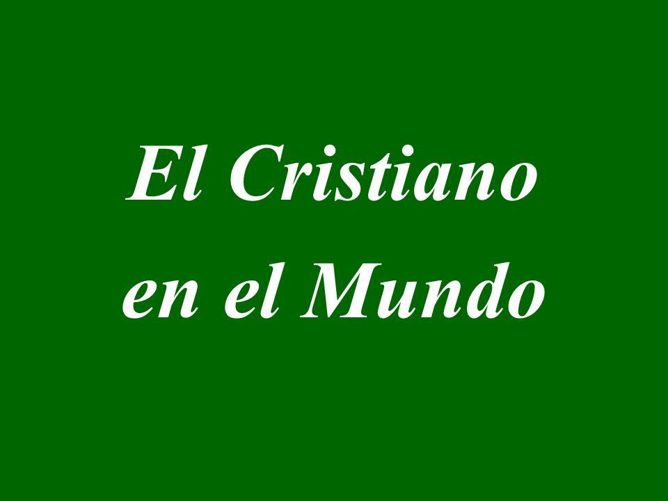 El Cristiano en el Mundo