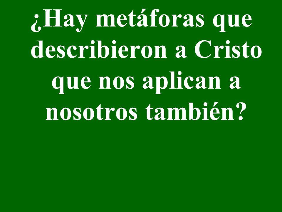 ¿Hay metáforas que describieron a Cristo que nos aplican a nosotros también?