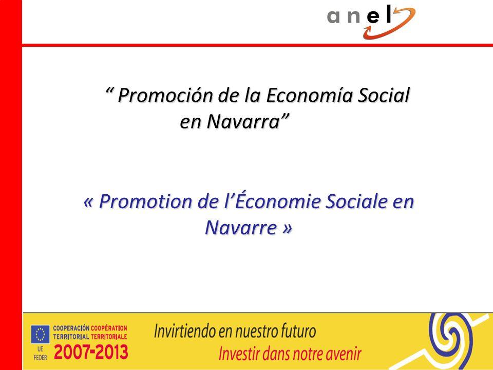 Promoción de la Economía Social en Navarra Promoción de la Economía Social en Navarra « Promotion de lÉconomie Sociale en Navarre »