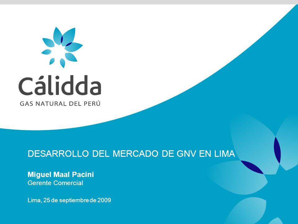 Contenido Mercado de GNV en cifras Plan de Expansión del sistema de distribución Descripción General Cifras Consideraciones para el mercado de GNV Conclusiones
