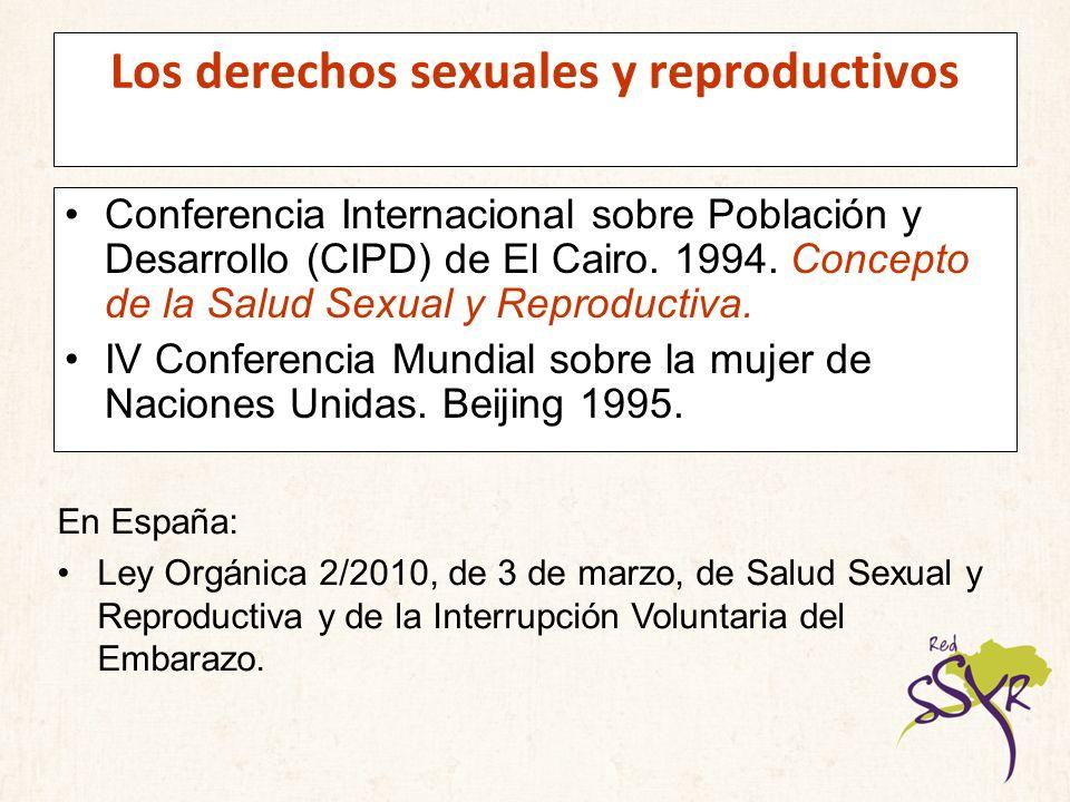 Los derechos sexuales y reproductivos Conferencia Internacional sobre Población y Desarrollo (CIPD) de El Cairo. 1994. Concepto de la Salud Sexual y R
