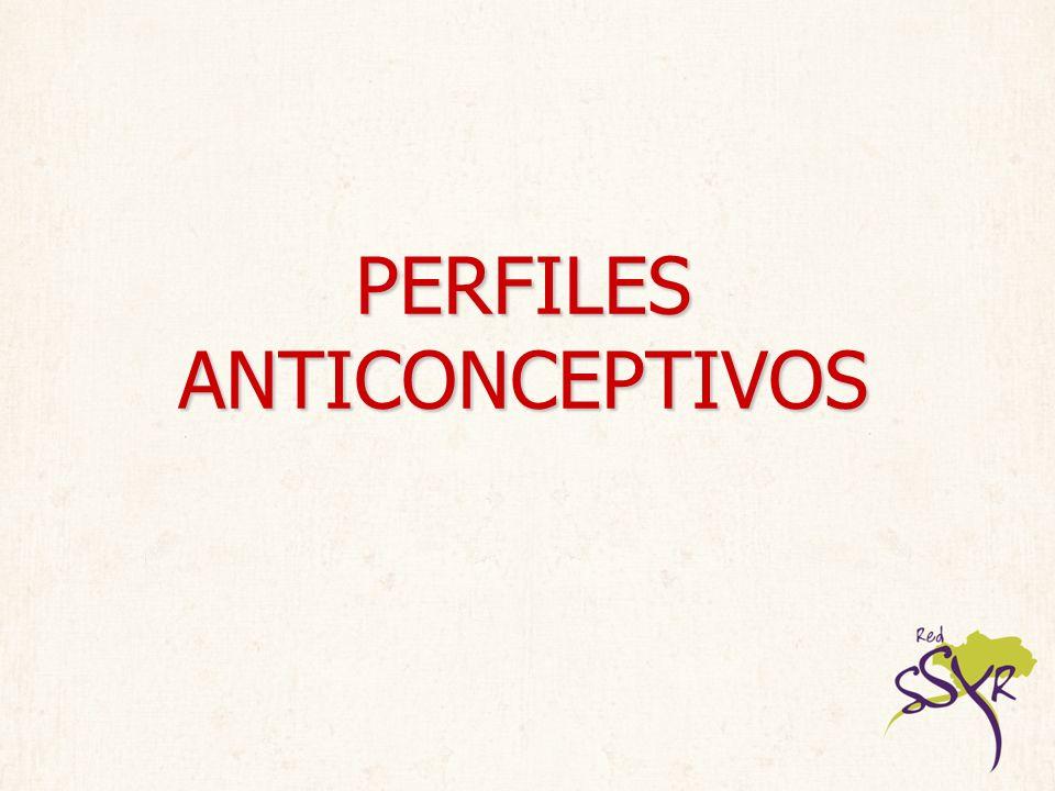 PERFILES ANTICONCEPTIVOS