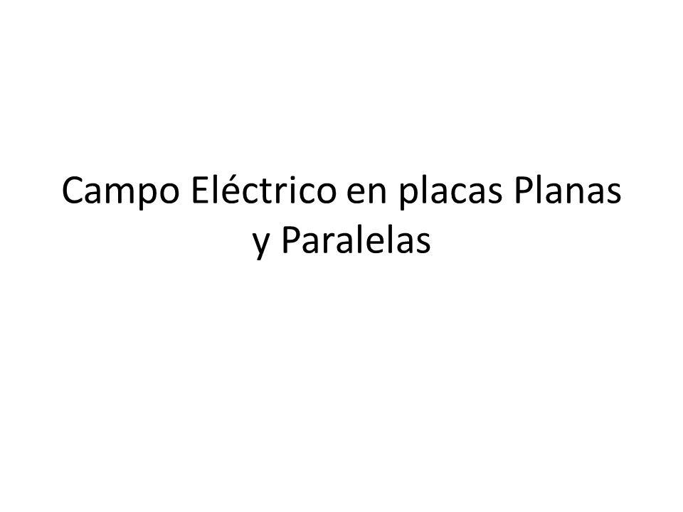 Campo Eléctrico en placas Planas y Paralelas