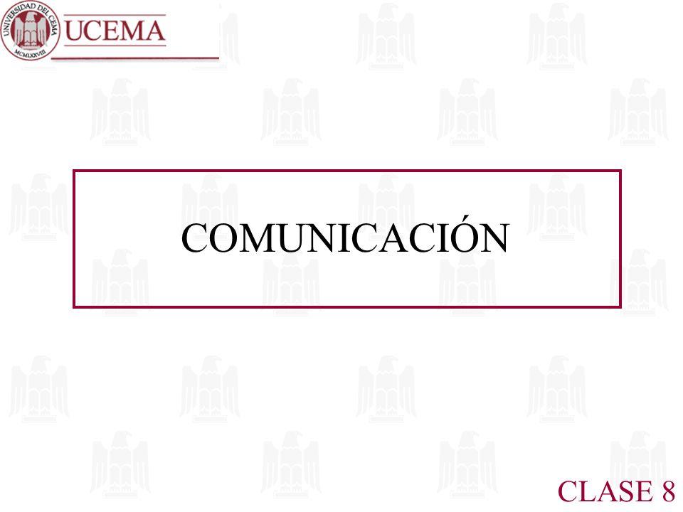 CLASE 8 COMUNICACIÓN