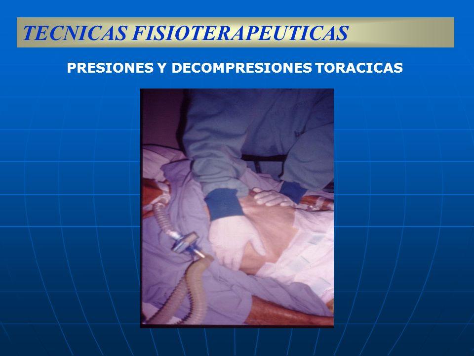 PRESIONES Y DECOMPRESIONES TORACICAS TECNICAS FISIOTERAPEUTICAS