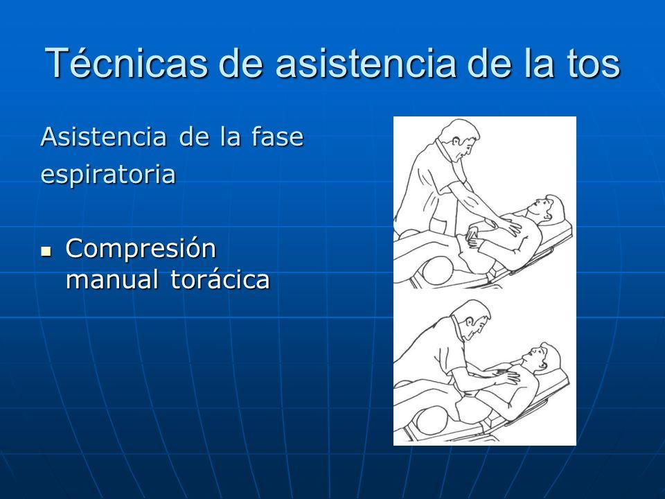 Técnicas de asistencia de la tos Asistencia de la fase espiratoria Compresión manual torácica Compresión manual torácica