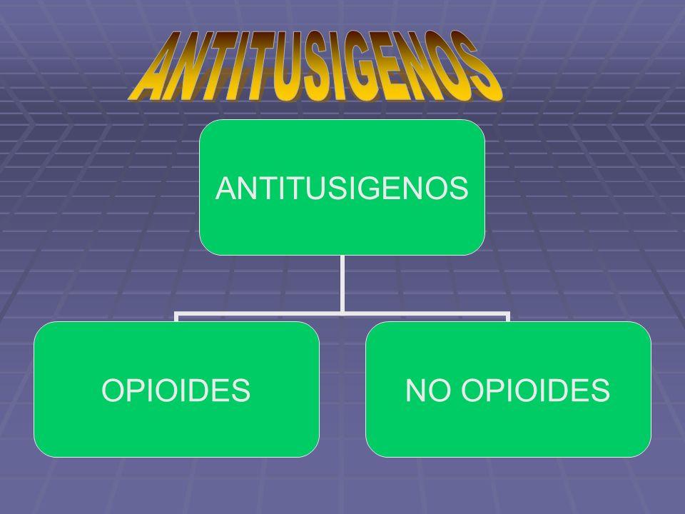 ANTITUSIGENOS OPIOIDESNO OPIOIDES