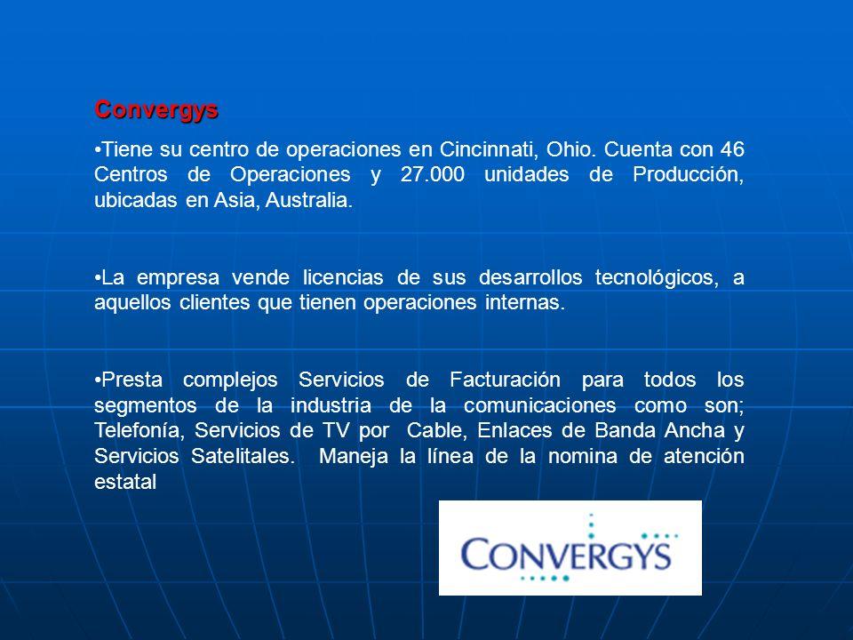 Opera con una red de 35 Contact Centers, y 7 Centros de procesamiento de Datos y Voz, ubicados en Norte América, Jamaica y la India. Cuenta con cerca