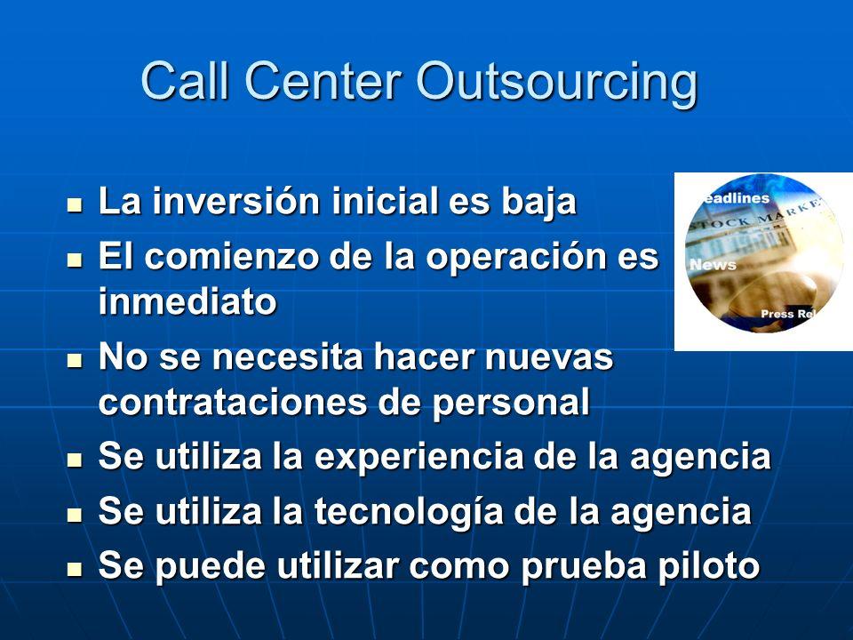 Call Center Inhouse, Mayor conocimiento por parte del vendedor Mayor conocimiento por parte del vendedor Mayor fidelidad del vendedor- producto Mayor