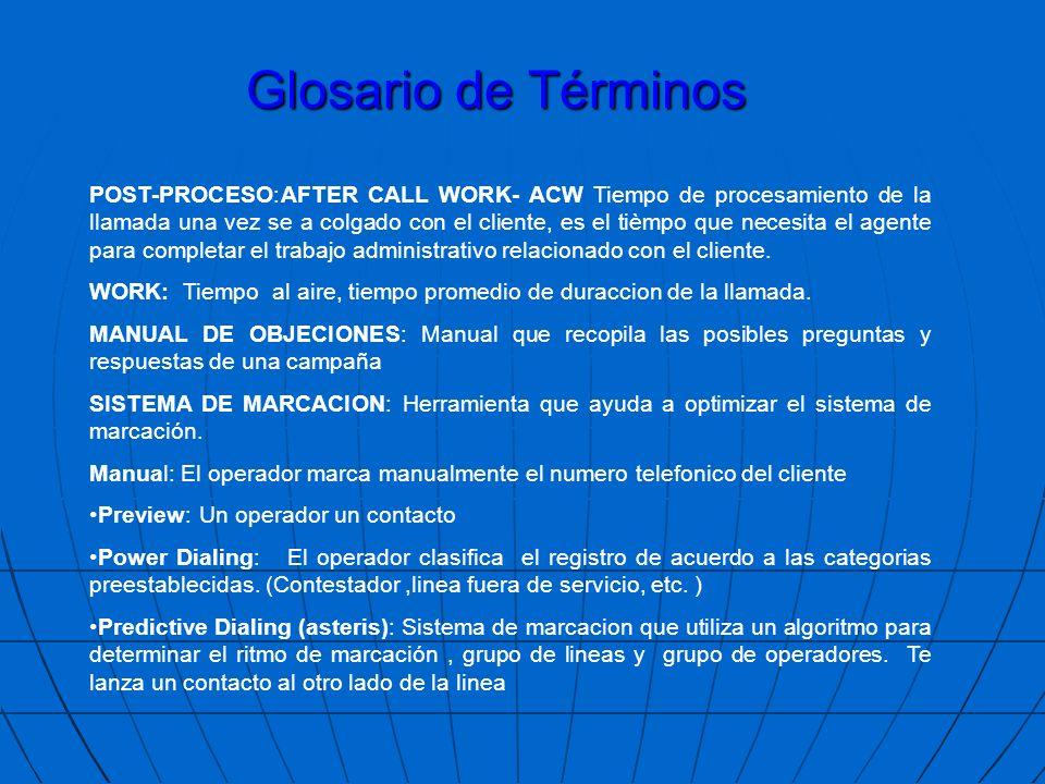 LLAMADAS RECIBIDAS:Número de llamadas que ingresan. LLAMADAS ACEPTADAS:Número de llamadas contestadas LLAMADAS ABANDONADAS:Número de llamadas que no f