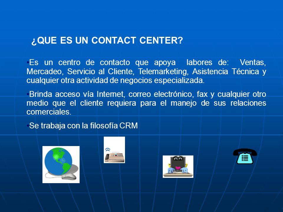 ¿QUÉ ES UN CALL CENTER? Un Call Center es un área el cual tiene como objeto, la recepción y emisión de llamadas telefónicas, de una manera sistemática