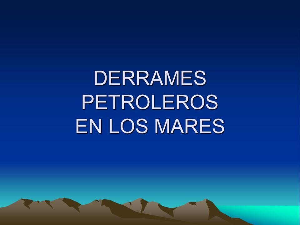 Los derrames de petróleo y productos derivados se producen principalmente en los terminales marítimos donde se cargan o descargan estos productos, pero, a menudo, los derrames se deben a accidentes de buques.