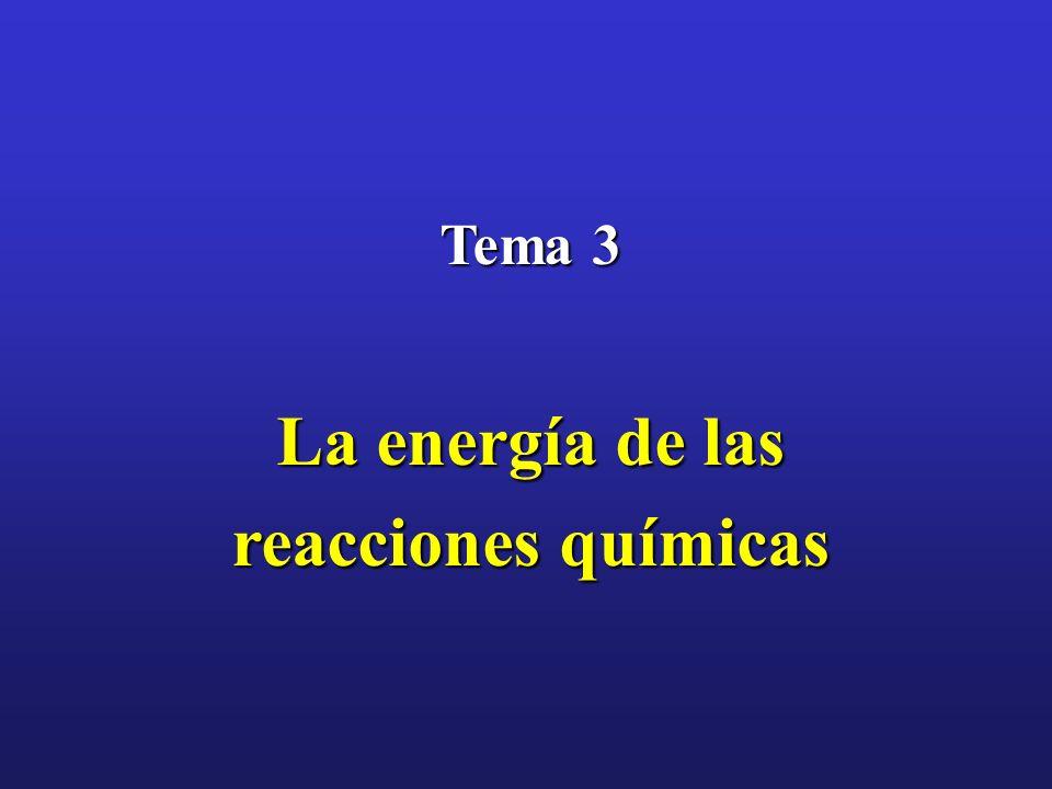 Tema 3 La energía de las reacciones químicas