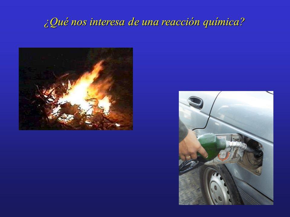 ¿Qué nos interesa de una reacción química?