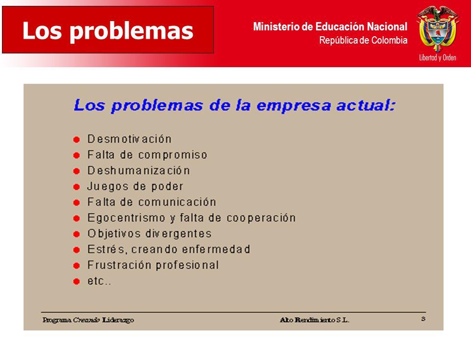 Ministerio de Educación Nacional República de Colombia Los problemas