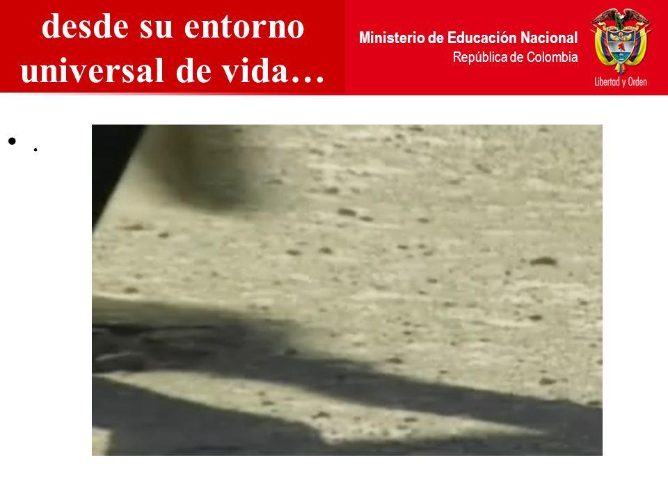 Ministerio de Educación Nacional República de Colombia desde su entorno universal de vida….