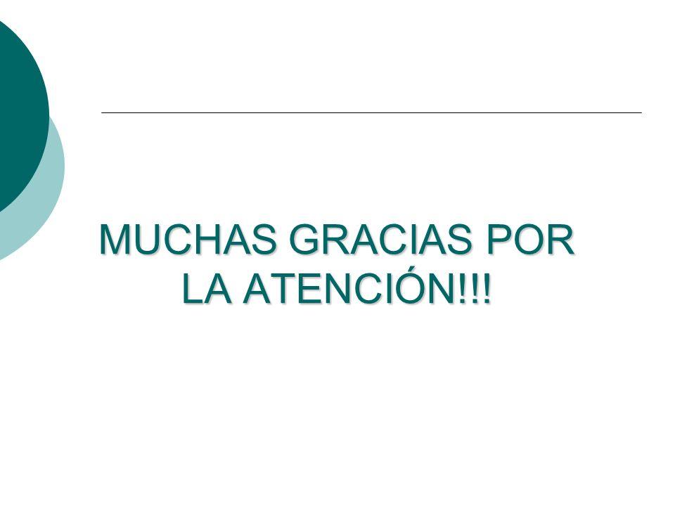 MUCHAS GRACIAS POR LA ATENCIÓN!!!