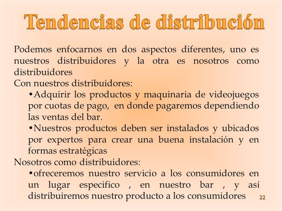 22 Podemos enfocarnos en dos aspectos diferentes, uno es nuestros distribuidores y la otra es nosotros como distribuidores Con nuestros distribuidores
