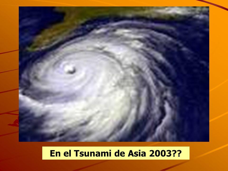 En el Tsunami de Asia 2003??