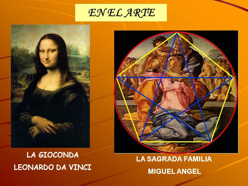 EN EL ARTE LA SAGRADA FAMILIA MIGUEL ANGEL LA GIOCONDA LEONARDO DA VINCI