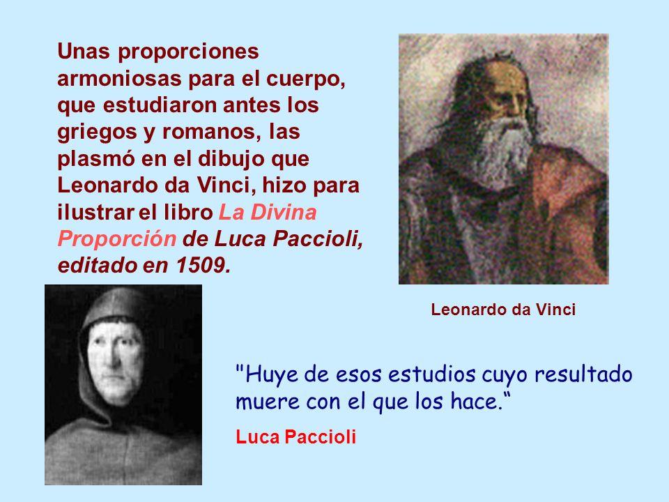Unas proporciones armoniosas para el cuerpo, que estudiaron antes los griegos y romanos, las plasmó en el dibujo que Leonardo da Vinci, hizo para ilus
