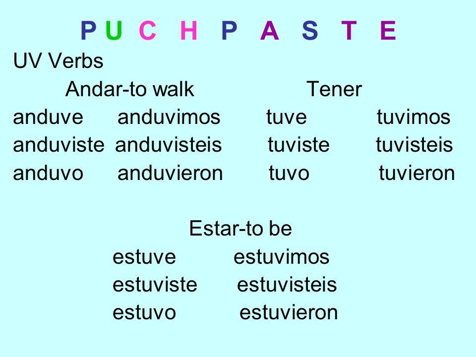 P U C H P A S T E Haber Use hubo to talk about an event happening.