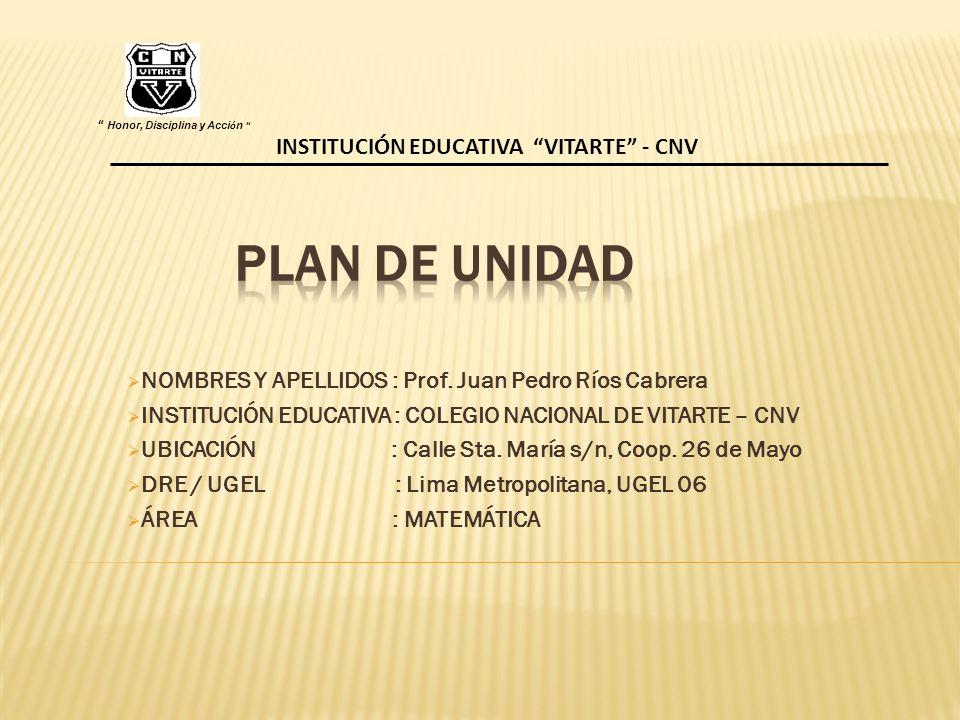 NOMBRES Y APELLIDOS : Prof.