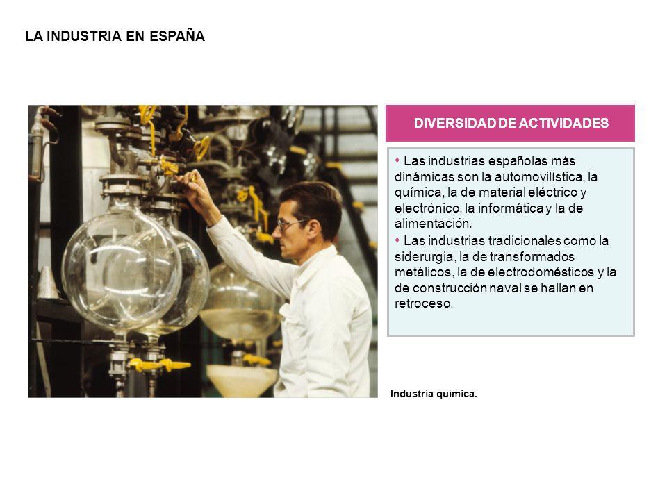 En España predominan las pequeñas empresas, cuyo número ha aumentado debido a la descentralización de la producción.