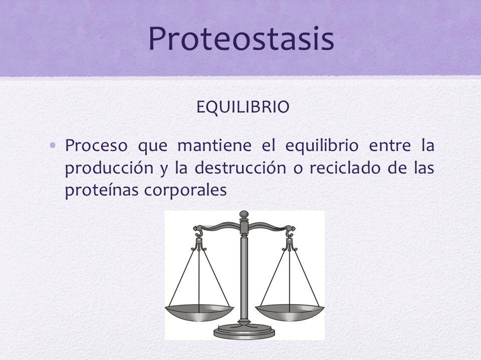 Desequilibrio AGREGACIÓN DE PROTEINAS