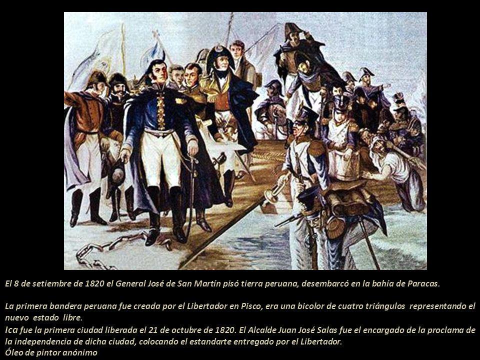 Sigue el texto de Hall:...En vez de ir directamente a palacio, San Martín fue a casa del marqués de Montemira, que se hallaba en su camino y, conociéndose al momento su venida, se llenaron pronto casa, patio y calle... .