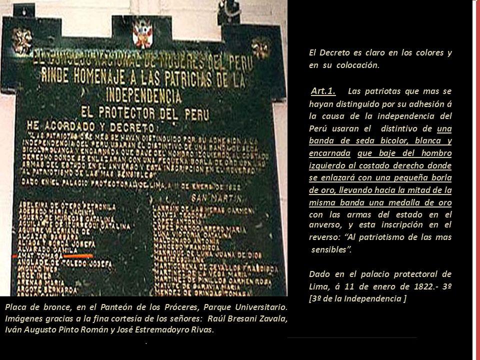 En la Gaceta de Gobierno del 23 de enero de 1822 se consigna una lista de damas patriotas. En la publicación del 6 de febrero del mismo año, por el mi