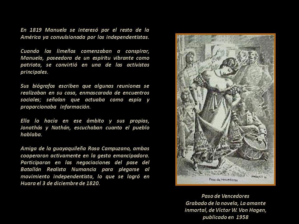 Partida de matrimonio de Manuela Sáenz y James Thorne. Iglesia de San Sebastián de Lima, 27 de julio de 1817. Imagen gracias a la fina cortesía de la