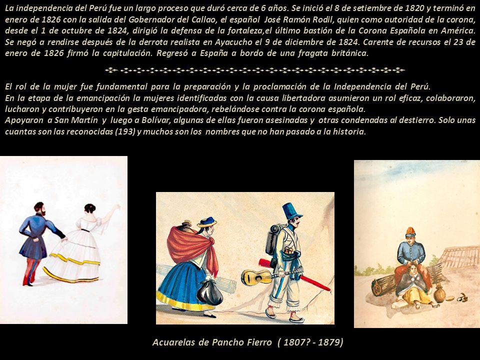 El 8 de setiembre de 1820 el General José de San Martín pisó tierra peruana, desembarcó en la bahía de Paracas. ----------- --------- La primera bande