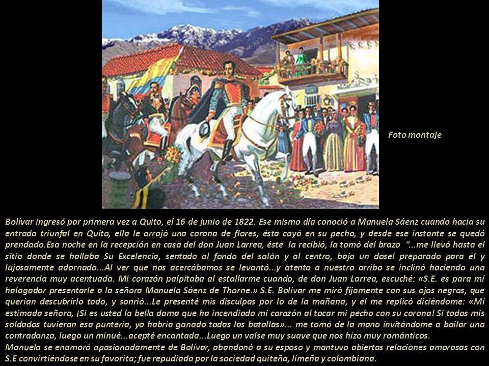 Bolívar y su ejército fue derrotado estruendosamente el 7 de Abril de 1822, en Bomboná, Pasto, camino obligado a Quito. Con el triunfo de Pichincha, l