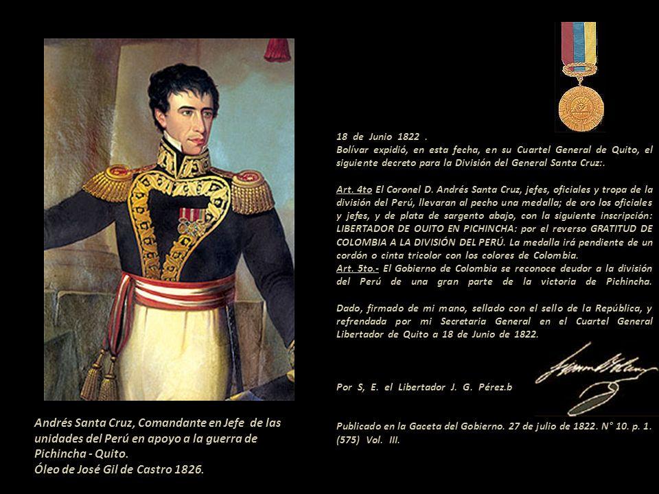 Foto montaje Bolívar ingresó por primera vez a Quito, el 16 de junio de 1822. Ese mismo día conoció a Manuela Sáenz cuando hacia su entrada triunfal e