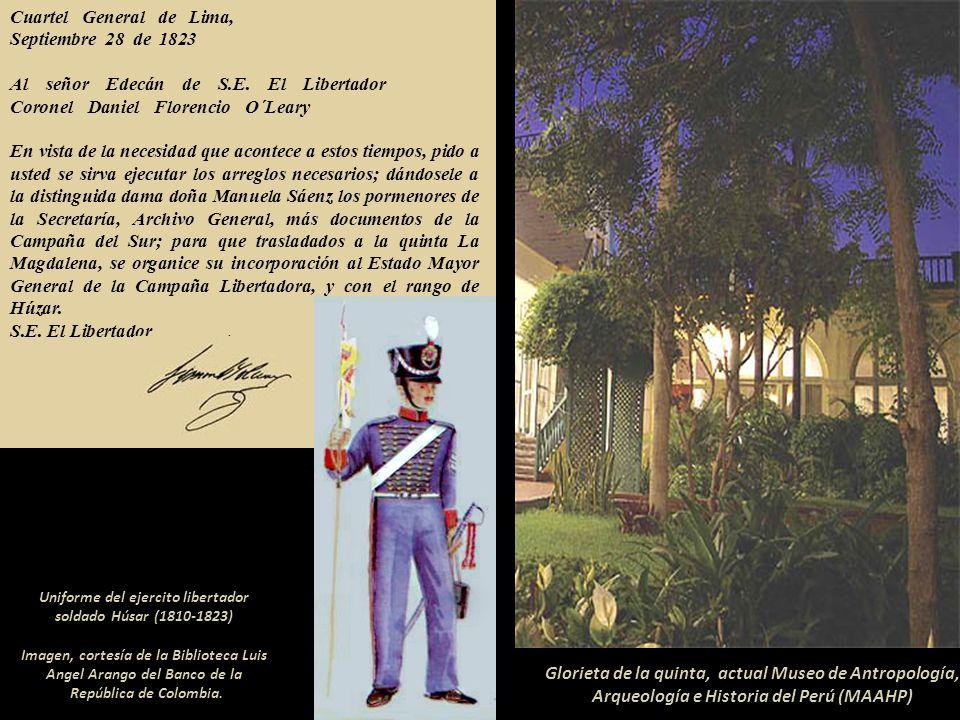 Quinta de la Magdalena o de los Libertadores, mansión construida por el Virrey Joaquín de la Pezuela en 1818. Hoy Museo de Antropología, Arqueología e