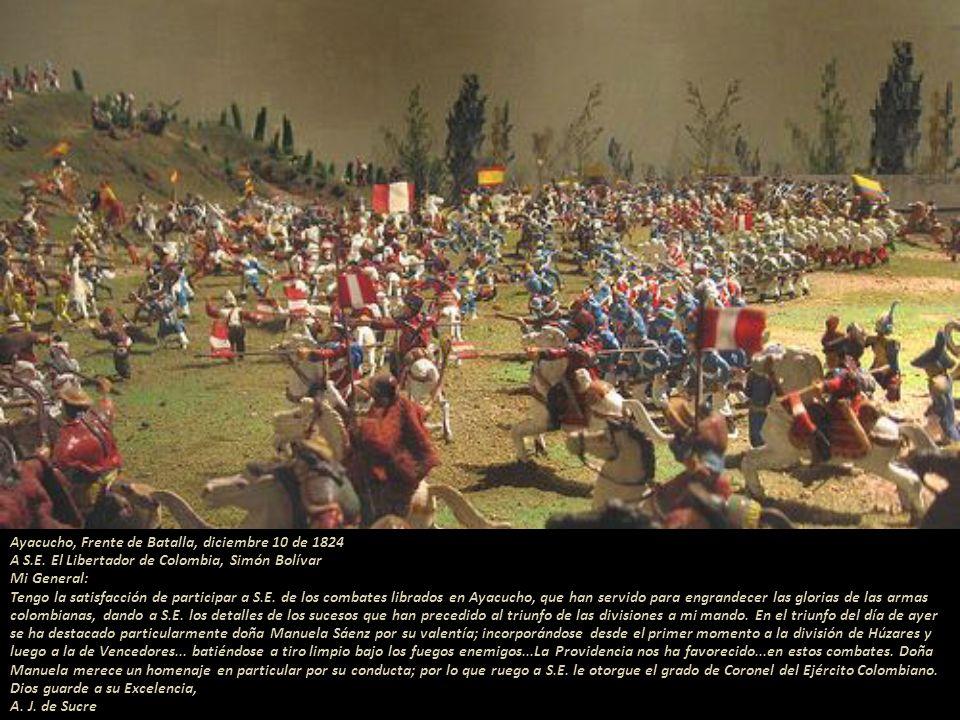 Capitán de Húzares de Colombia foto-montaje Teniente de Húzares de Colombia foto-montaje Cuartel General de Junín a 6 de Agosto de 1824... Al señor te