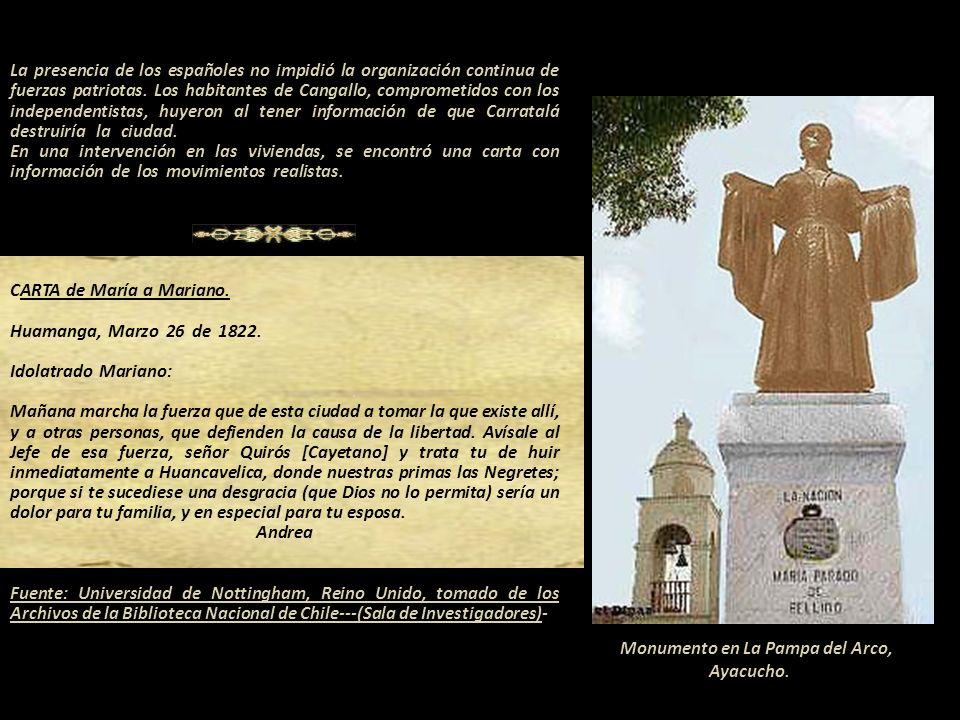 MARÍA ANDREA PARADO JAYO DE BELLIDO Publicada como la celda donde estuvo prisionera Distinguida heroína peruana. Según el sacerdote Carlos Cárdenas na