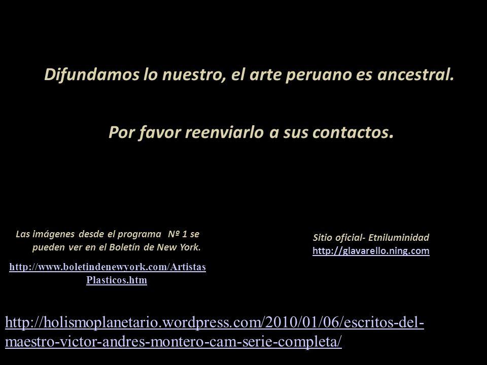 Algunos artistas, peruanos y extranjeros, figuran en el diccionario Carátula, escultura de Armando Varela Neyra Lima - Perú Responsable del programa g