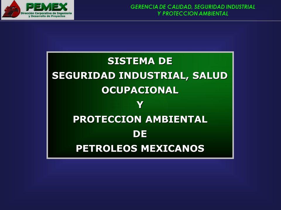 GERENCIA DE CALIDAD, SEGURIDAD INDUSTRIAL Y PROTECCION AMBIENTAL SISTEMA DE SEGURIDAD INDUSTRIAL, SALUD OCUPACIONAL Y PROTECCION AMBIENTAL DE PETROLEO