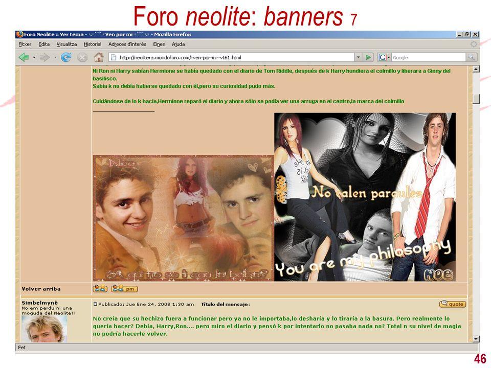 46 Foro neolite : banners 7