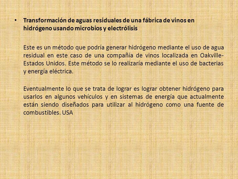 CHILE Pryecto biochar para mejorar suelos agricolas La Universidad de Tarapacá de Chile inició en abril del presente año un proyecto en el que se utilizará desechos agrícolas y biomasa para elaborar biochar que aumente la fertilidad de suelos salinos y bajos en nutrientes; cuya fecha de finalización está prevista para el año 2013.