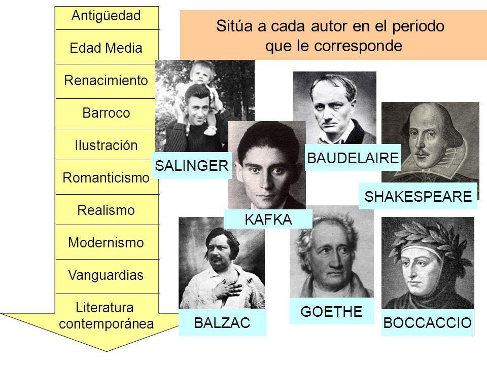 ¿Podrías relacionar estas obras con sus autores.