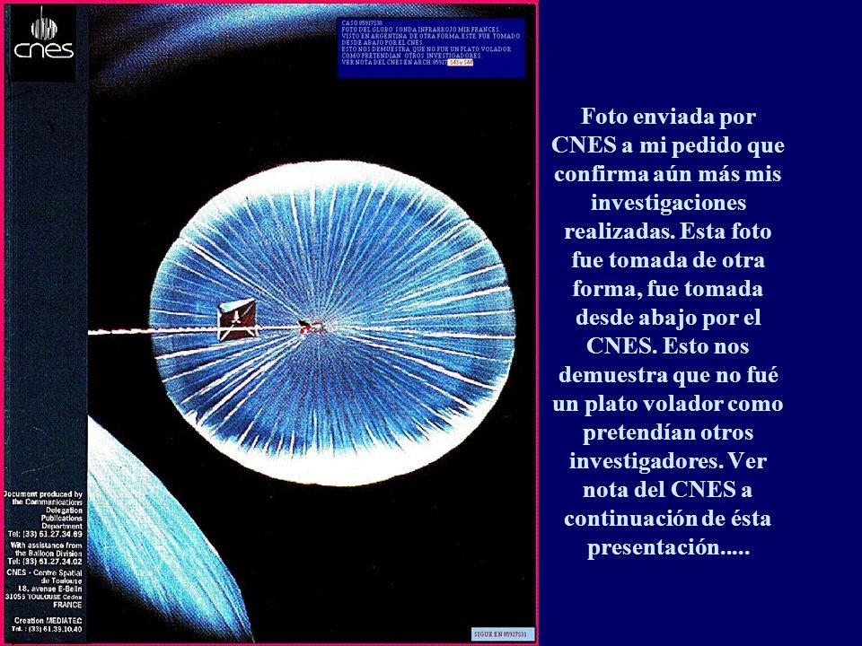 Foto enviada por CNES a mi pedido que confirma aún más mis investigaciones realizadas.