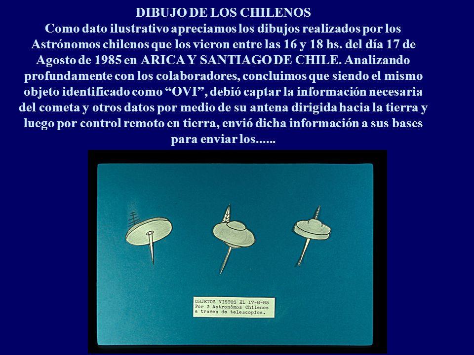 DIBUJO DE LOS CHILENOS Como dato ilustrativo apreciamos los dibujos realizados por los Astrónomos chilenos que los vieron entre las 16 y 18 hs.