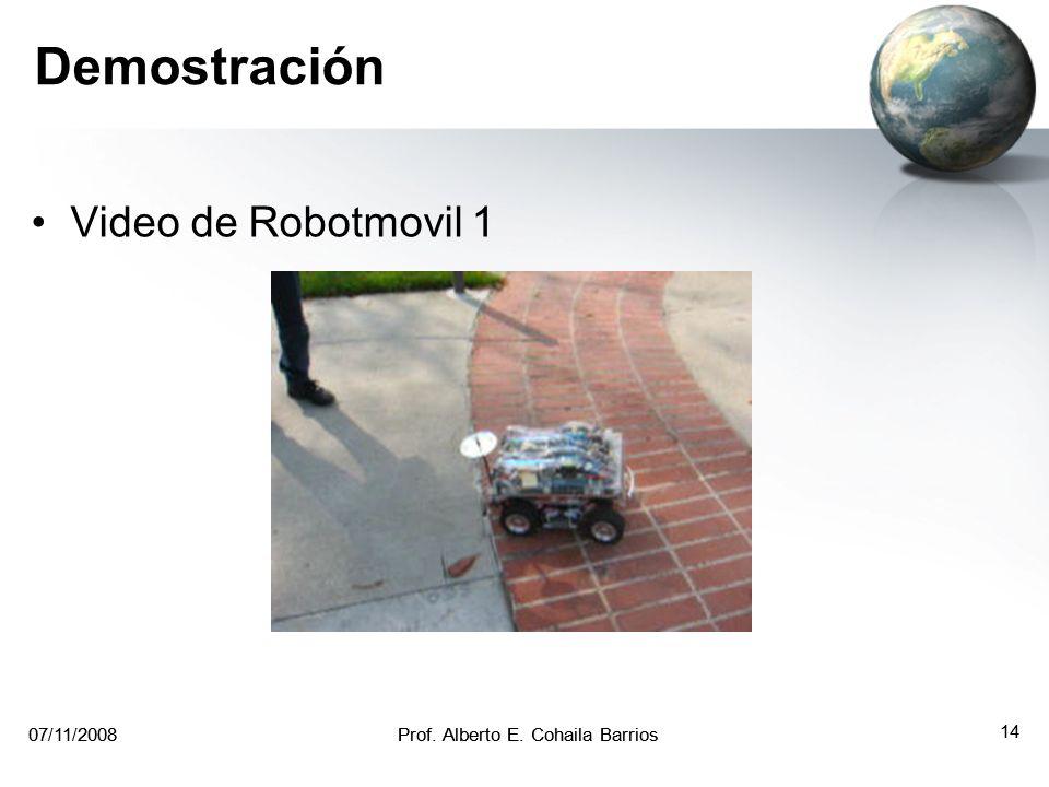 07/11/2008Prof. Alberto E. Cohaila Barrios 13 07/11/2008Prof. Alberto E. Cohaila Barrios 13 Ejemplos de Multiprocesamiento Robot móvil que emplea mult
