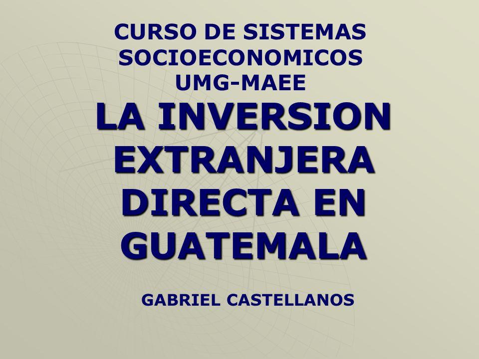 INVERSION EN RECURSOS FISICOS Infraestructura en general moderna y eficiente.