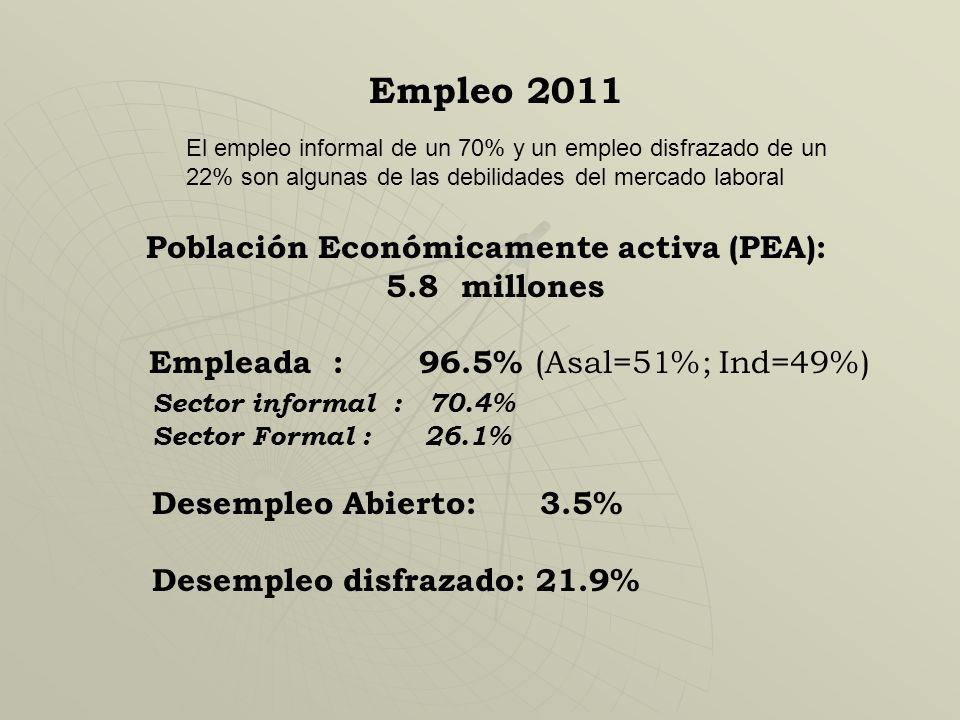 I. Meta de crecimiento económico. Para reducir la pobreza y la pobreza extrema en un 50% en 20 años: es necesario una tasa de crecimiento de alrededor